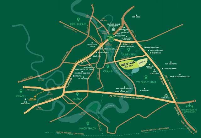 Vị trí Biệt thự Dự án Biên Hòa New City